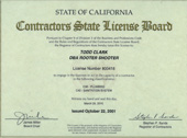 Plumbing Service and Sanitation Contractors License CA California