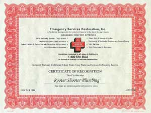 Certification for emergency water leak detection and gas leak detection services Los Angeles LA, Diamond Bar, Glendora